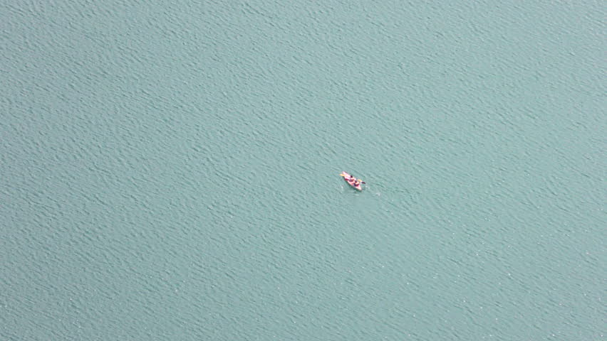 Canoes On The Lake, Aerial Still Shot  | Shutterstock HD Video #10017647
