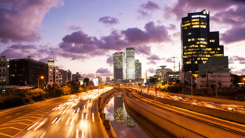 4K - Traffic Time Lapse - Ayalon Freeway