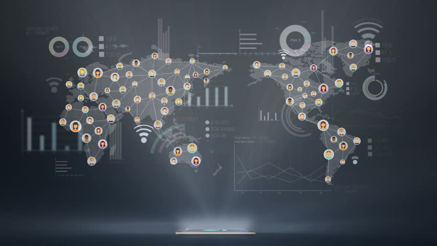 Global economic graph various diagram, connection people, social media service using smartphone. | Shutterstock HD Video #10078865