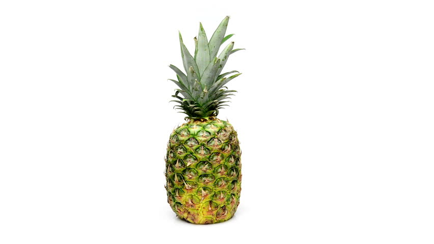 pineapple rotating on white background #10092932