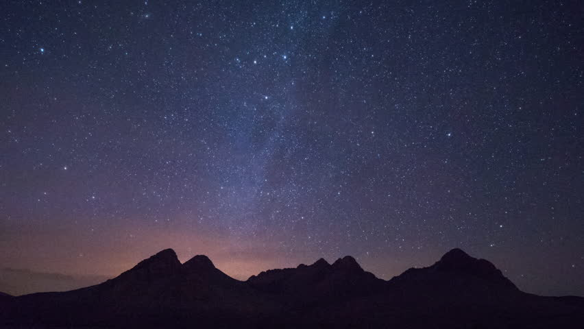 night time timelapse of the stars in the sahara desert morocco
