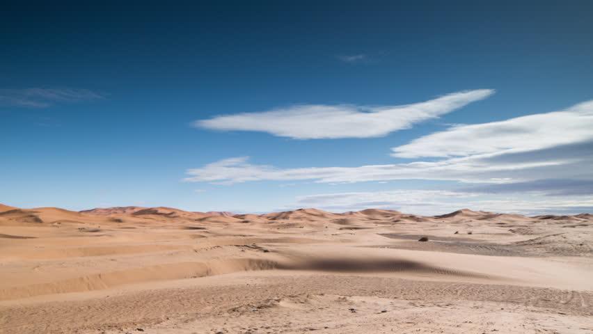 timelapse of the amazing Erg chebbi dunes in the sahara desert, morocco