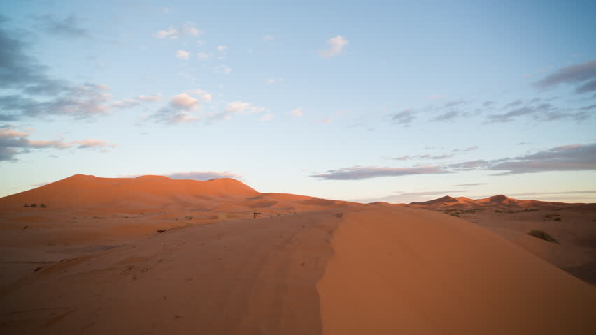 Sunset timelapse of the amazing Erg chebbi dunes in the sahara desert, morocco | Shutterstock HD Video #10149605