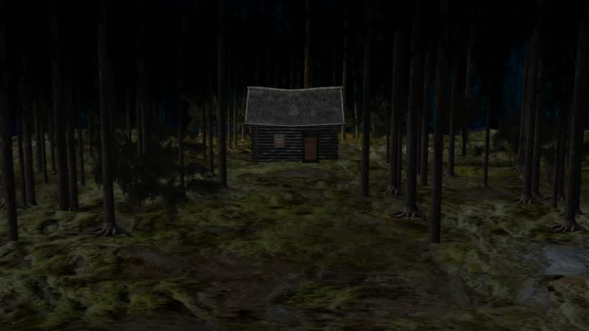 The cabin and the forest   Shutterstock HD Video #10151558