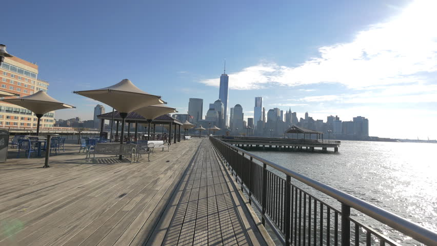 Along the riverside at the Exchange Place, Jersey City, USA