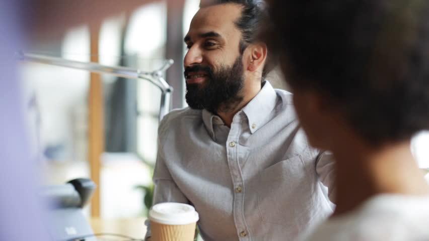 Coffee Break Meeting. Corporate Office Business People ...