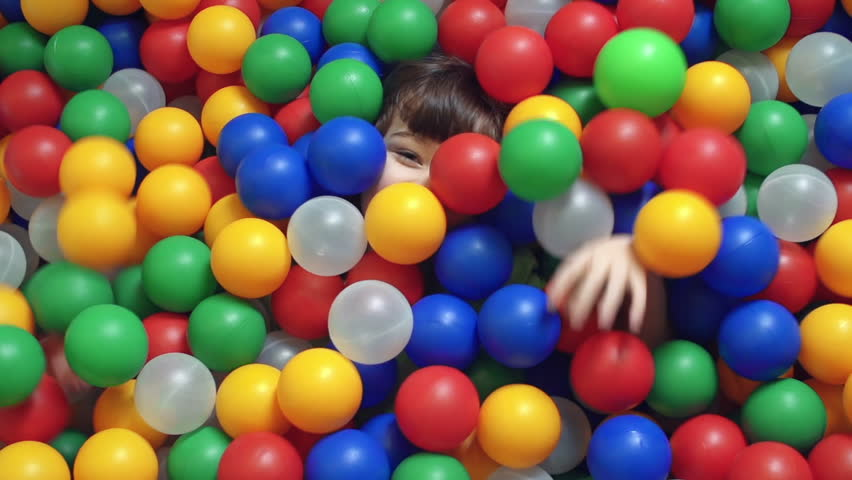 Falling colored balls background stock footage video for Ball pits near me