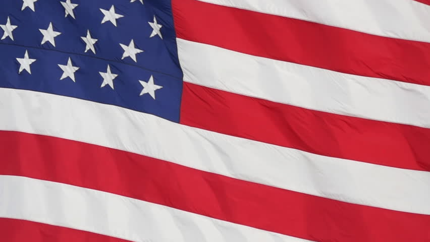 Slow motion Close-up of the flag of the United States of America. - HD stock footage clip
