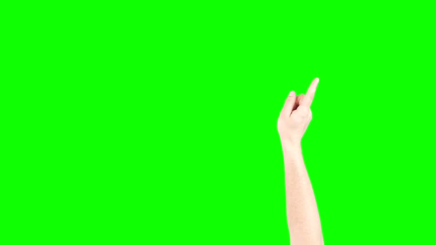 Swiping Hand On Green Screen Chroma Key (Good For Web Designers, Web Developers And Youtubers)