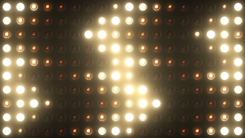 Flashing Lights Bulb Spotlight Flood lights Arrow Vj Led Wall Stage Led Display Blinking Lights Motion Graphics Background Backdrop 4k Ultra HD | Shutterstock HD Video #10391642
