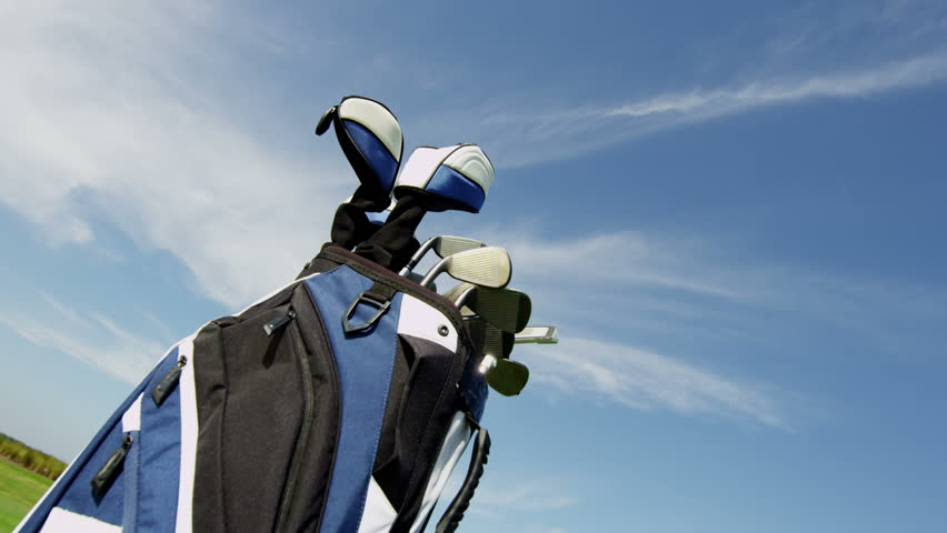 Healthy Outdoor Golf Course Male Caucasian Pro Golfer Player Outdoors Activity | Shutterstock HD Video #10423448