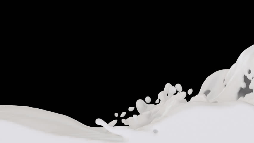Animated River Of White Paint, Condensed Milk Or Heavy ...