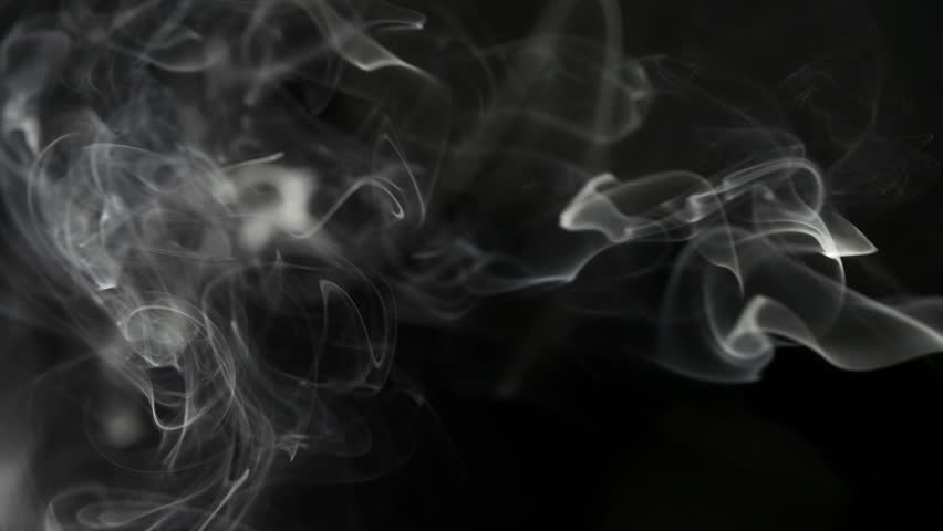 Rising puff of white smoke on black background stock footage video 4668803 shutterstock - Dark smoking wallpapers ...
