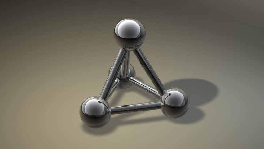 simple metallic grey molecular structure (HD, 30fps, loop, 3d render) 1080p - HD stock footage clip