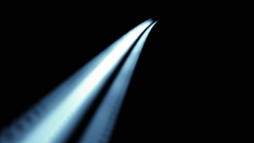 blue line of light - HD stock footage clip