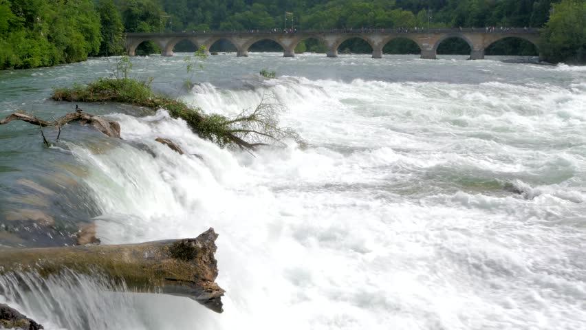 Rhine Falls Schaffhausen - Switzerland #1 - 4K stock video clip