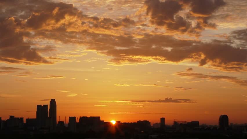 London dawn sunrise time lapse