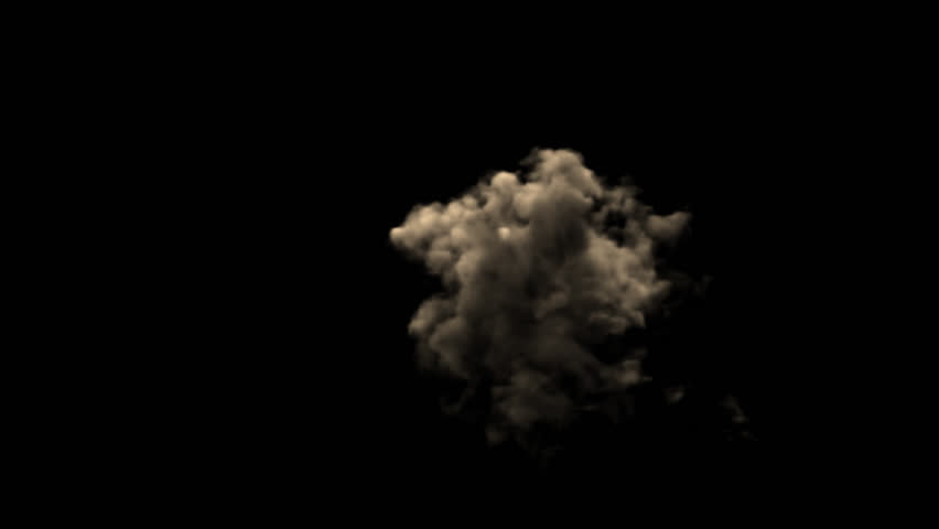 Dust Explosion 3d animation simulates side explosion dust  With alpha channel (transparent background) in 4K resolution