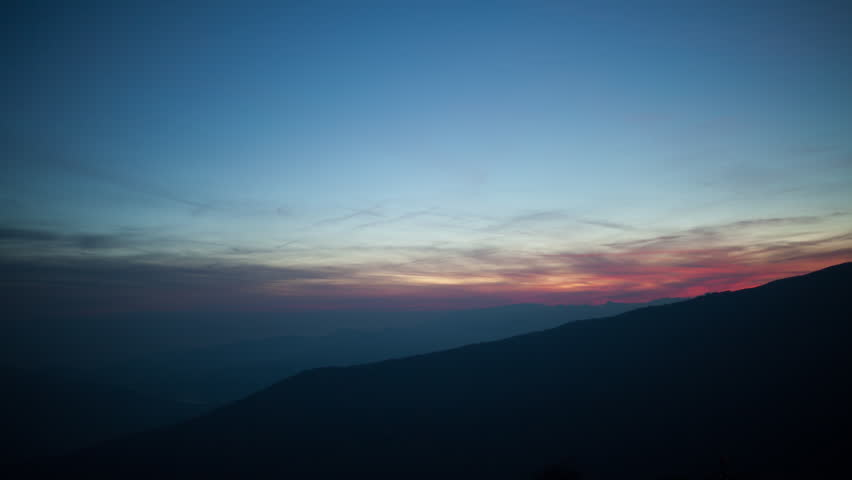 4k sunset timelapse of mist and haze clouds in the las alpujarras near to granada in spain - 4K stock footage clip