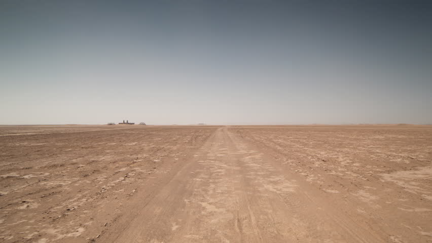4k POV shot from the front of an off road vehicle in the sahara desert, morocco