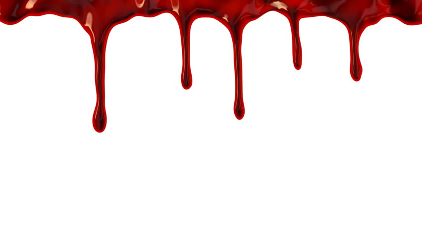 Bloody Drops Falling On To A White Background. Stock ...