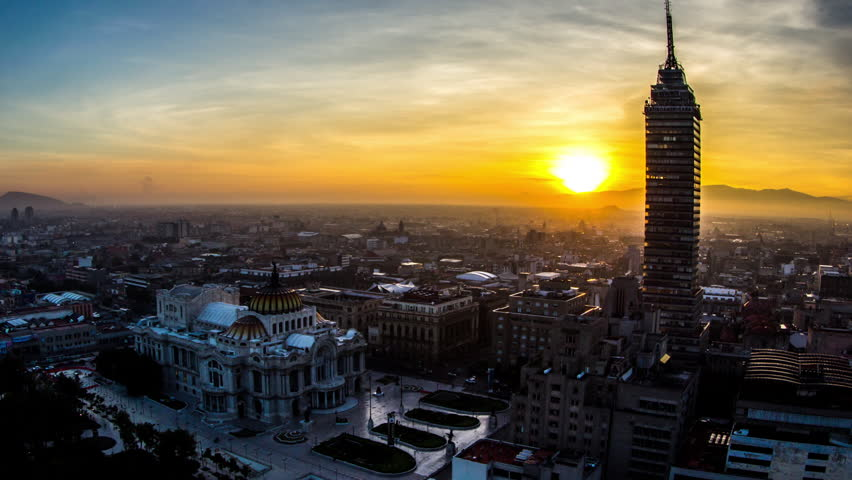 Sunrise in Bellas Artes