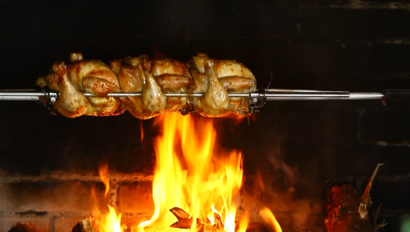 Roasting Chicken Over ...
