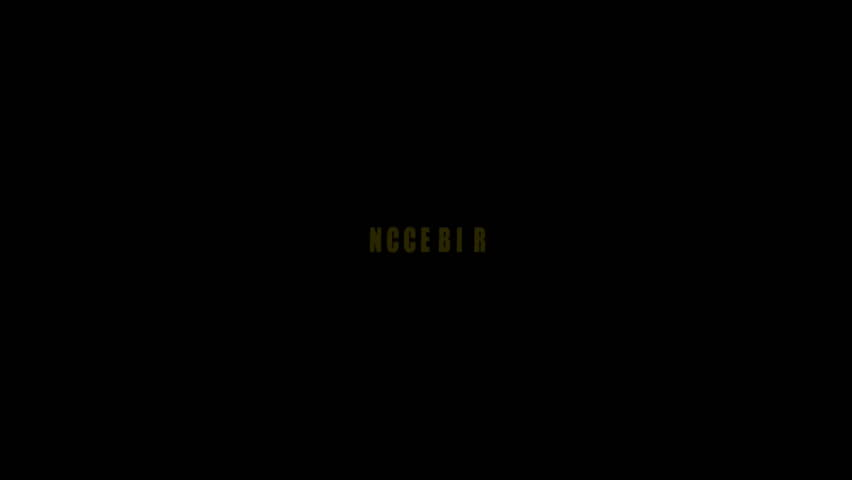 Animation of approved text on black background
