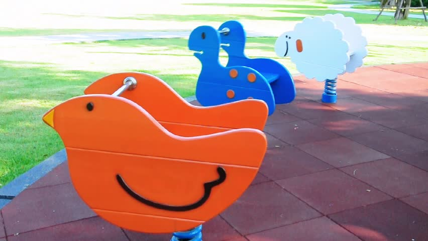 Seesaw for kid on playground  - HD stock video clip