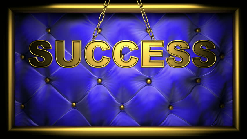 success on velvet background - HD stock footage clip