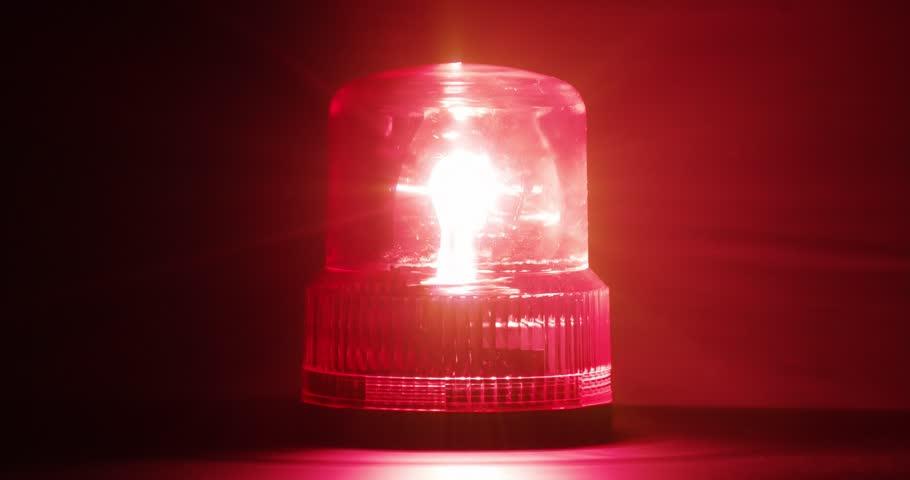 4K - Red emergency flasher