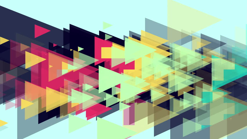 Triangles Hipster Animation, Retro Pattern Of Geometric ...