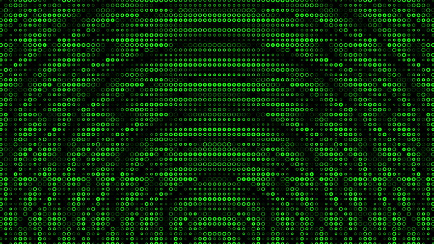 Green Loopable It Background Glowing Binary Signs Flying