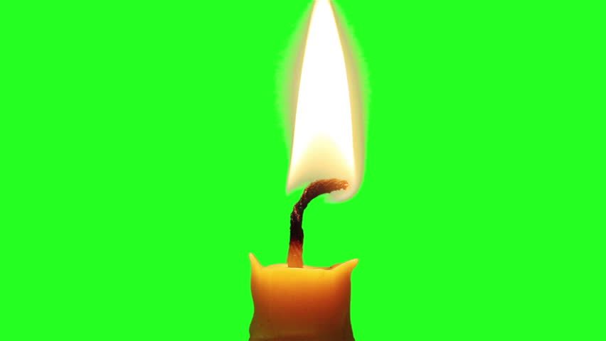 Candle light on green screen