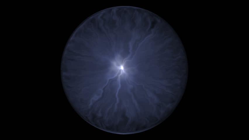 Fancy Light Effects In A Dark Background Stock Footage: Fancy Blue Electric Ball In A Dark Background Stock