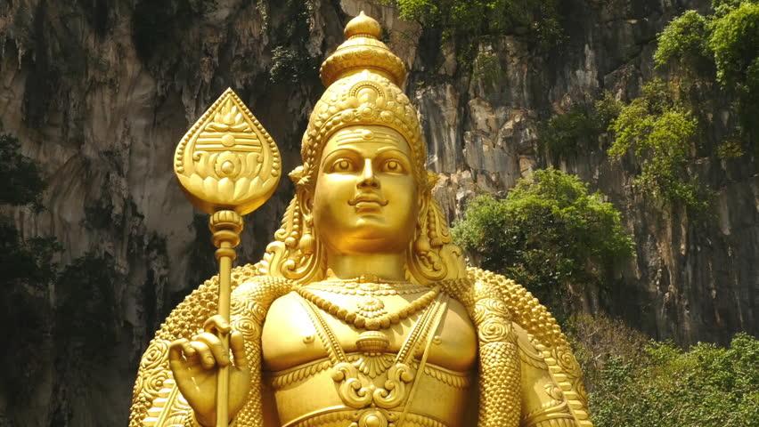 Center Shot Of Religious Statue, Kuala Lumpur, Malaysia