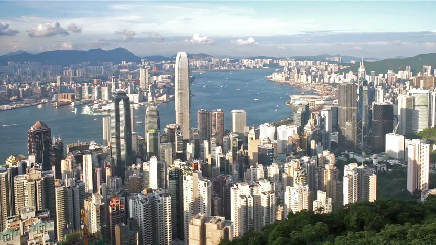 Hong Kong Victoria harbour view from the peak. | Shutterstock HD Video #11281976