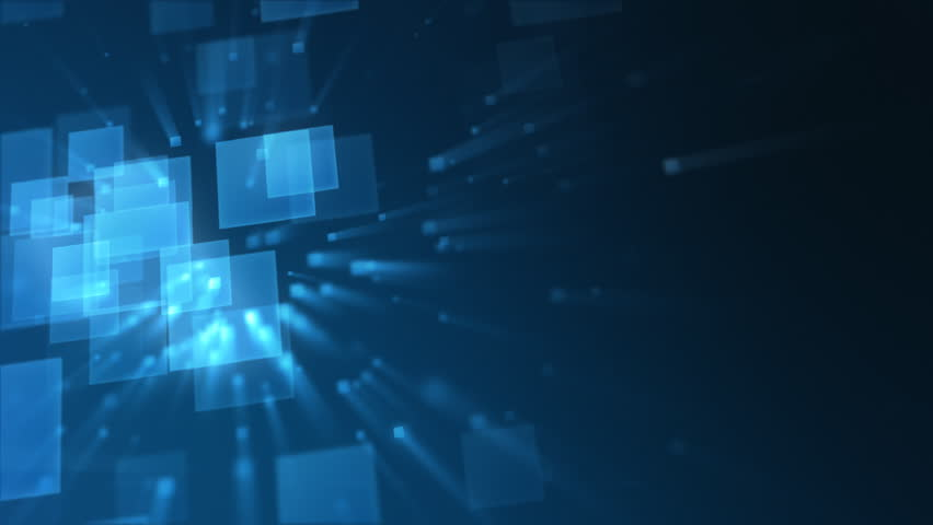 Business Background Made With Blue Squares Stock Footage