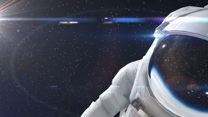 Astronaut in outer space 3d animation stock footage video for 3d outer space