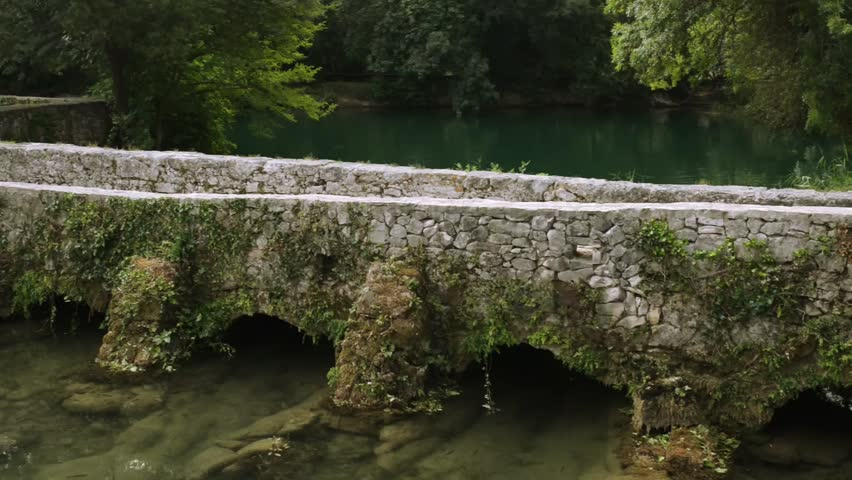 Stone old house of Krka National Park is one of Croatian national parks, named after river Krka that it encloses. It is located along middle-lower course in central Dalmatia, in Sibenik-Knin county - HD stock video clip