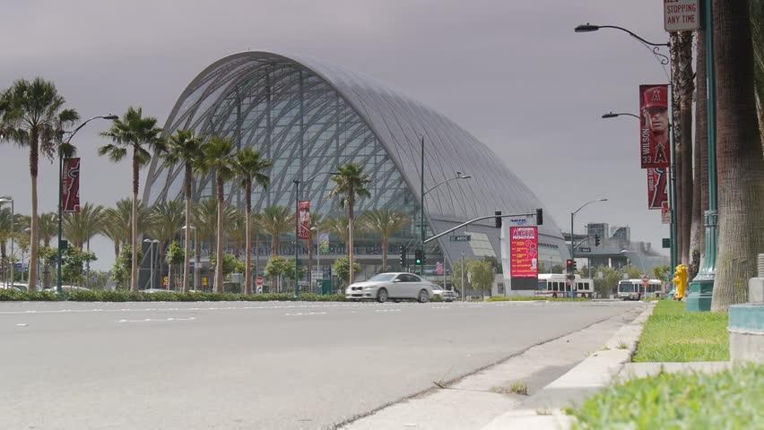 Anaheim, California - August, 2015 - Anaheim Regional Transportation Intermodal Center (ARTIC).
