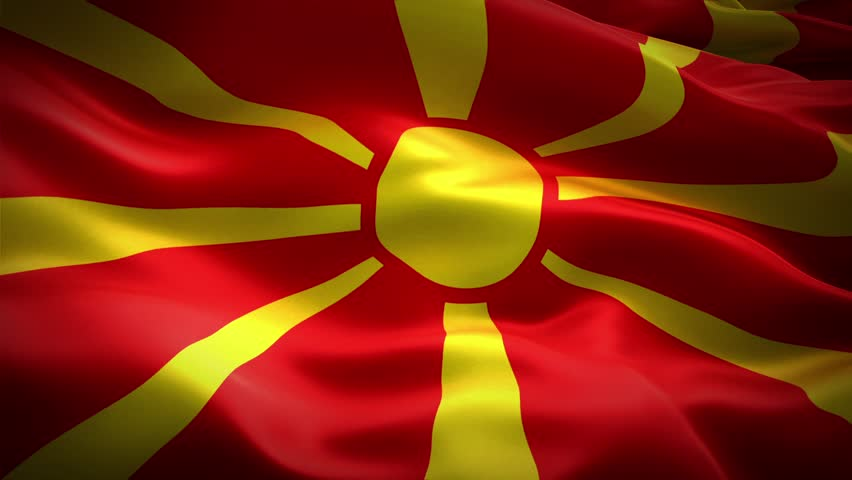 Macedonia Flag waving ...