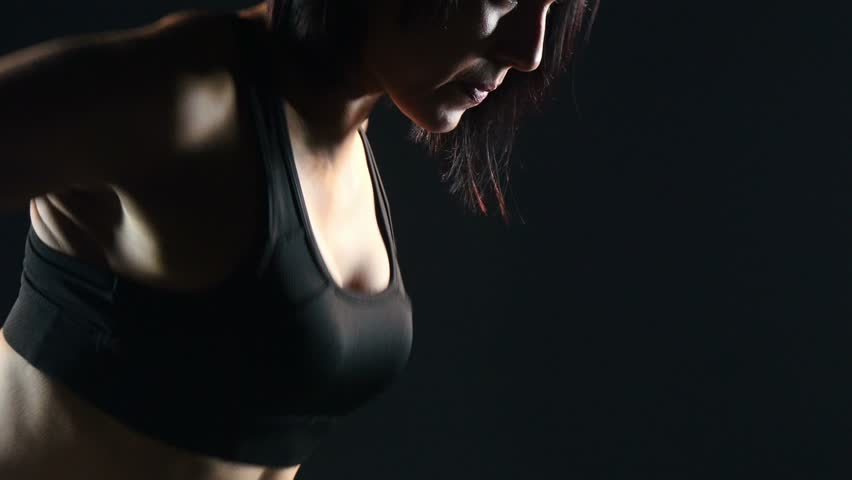Beautiful woman training with dumbbells 4 | Shutterstock HD Video #11559482