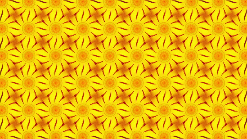 Yellow abstract background, flowers, loop | Shutterstock HD Video #11629124