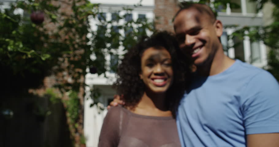 Married couple get a key to their new home. Shot on RED Epic. | Shutterstock HD Video #11704076