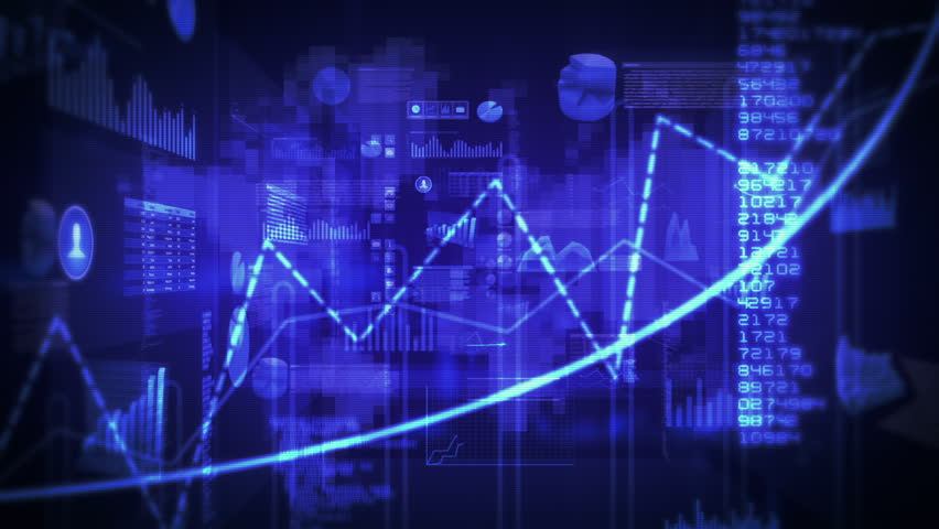 Financial data and charts. Dolly in. Loop able. Blue-Cyan. 2 videos in 1 file. Financial data and charts showing increasing profits. More color options in my portfolio.   Shutterstock HD Video #11727557