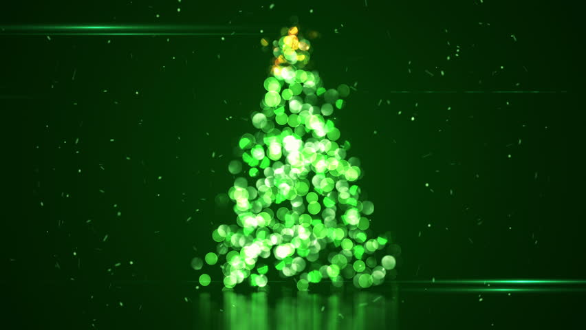 Shape of Christmas tree with blurred bokeh lights. Abstract background for Christmas holidays and New year. Animation of seamless loop. | Shutterstock HD Video #11808386