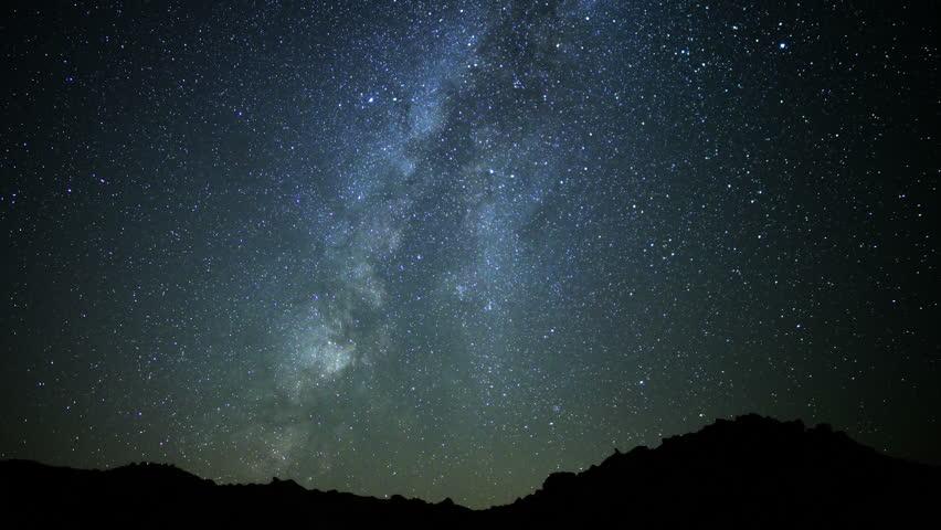 Milky Way Galaxy Time Lapse 03 Mojave Desert California