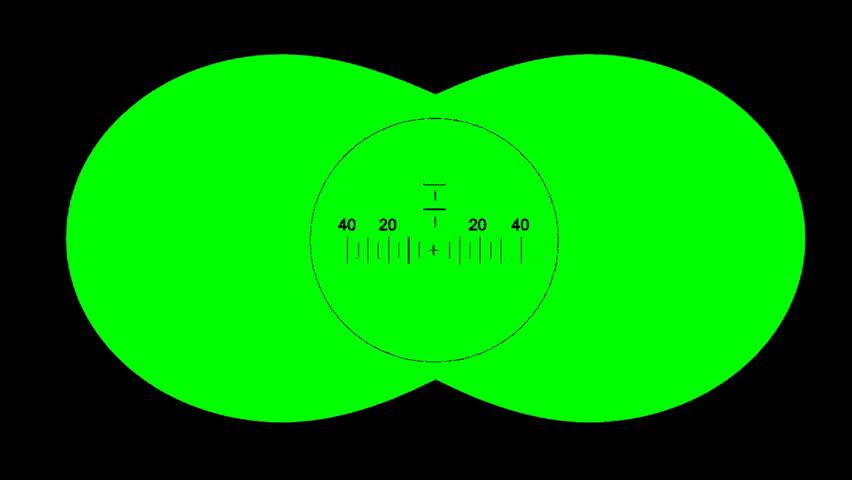 Binoculars with net on green screen. Binoculars with net for editing  #11866409