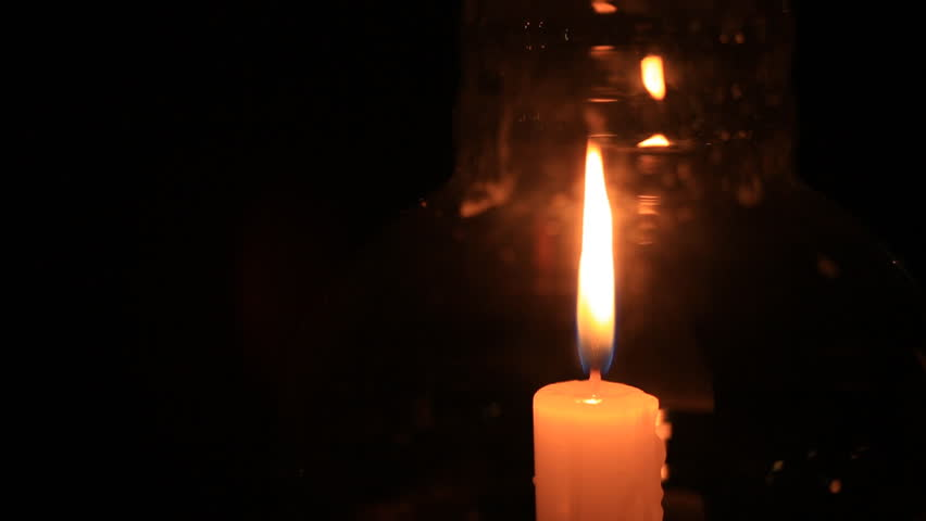 Candle in glass lantern at the night | Shutterstock HD Video #11907935